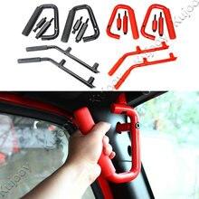Интерьер автомобиля 2 Дверные рамы/4 Дверные рамы черный металл поручни Передняя и задняя автомобиль поручень для Jeep Wrangler 2007-2016 стайлинга автомобилей