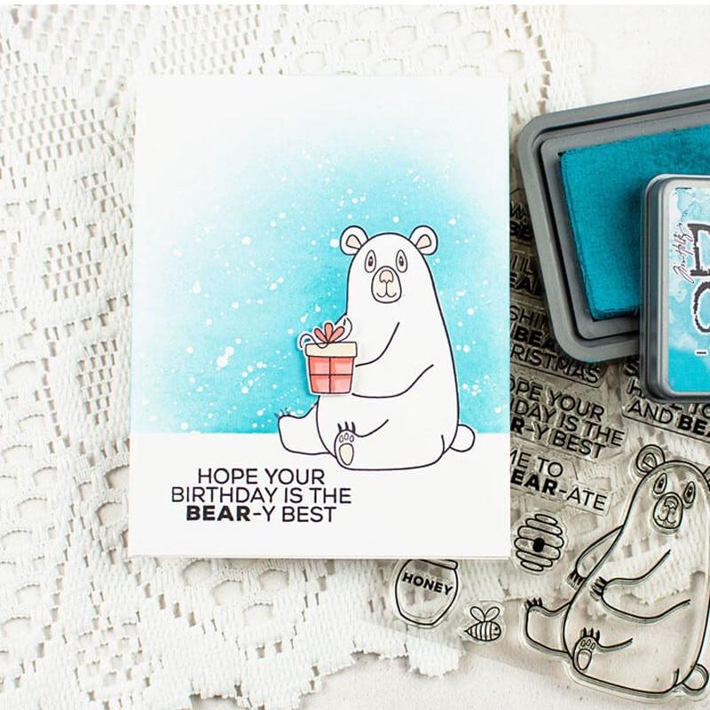 Bobbi oso sello de silicona sello de goma transparente para álbum ...