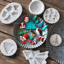 Merry christmas cake mold Tree snow man sock hat chocolate mold silicone fondant baking decorating tool