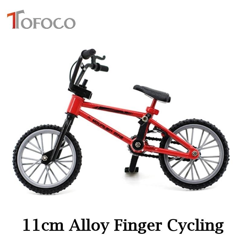 TOFOCO New 11cm Alloy Finger Bike Toys Mini BMX Bicycle