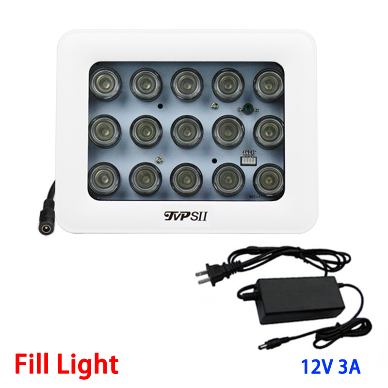 12V 3A White Outdoor Waterproof Surveillance 15pcs 42mil Array leds Infrared Light Night Vision IR illuminator Lamp Fill Light