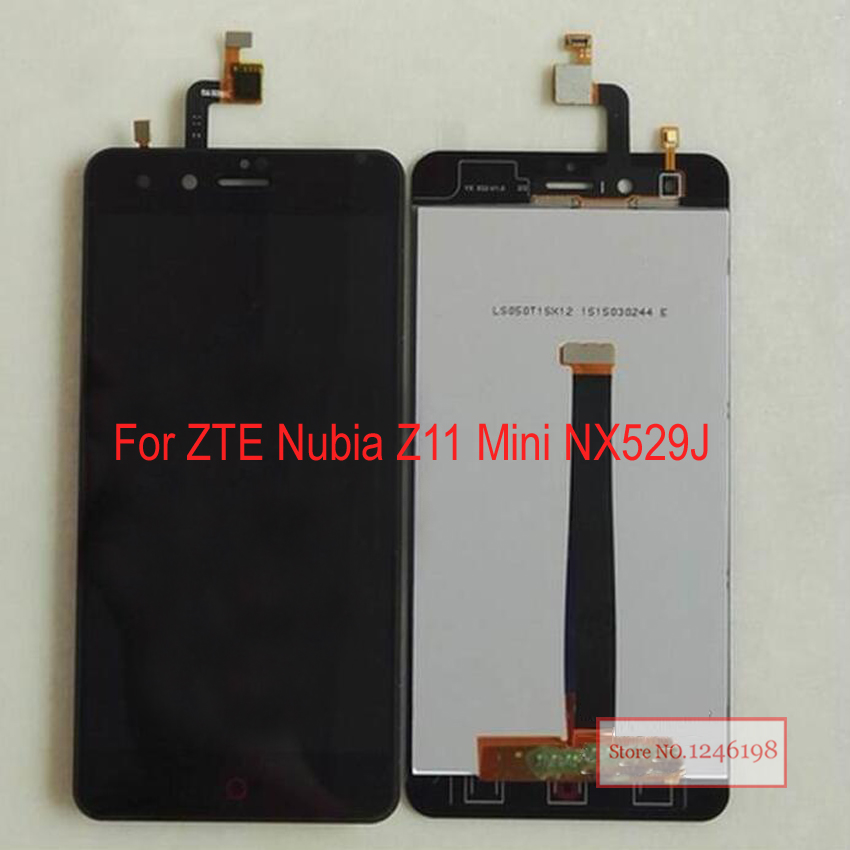 5.0inch Black White LCD Display with Touch Screen Digitizer Assembly For ZTE Nubia Z11 mini NX529J Z11mini Repair Replacement lcd screen assembly for apple iphone 4 4g lcd display touch screen digitizer pantalla with frame bezel replacement black white