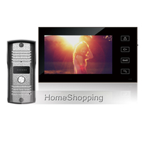 FREE SHIPPING New Wired 7 Inch TFT LCD Touch Button Monitor Video Phone Intercom System With