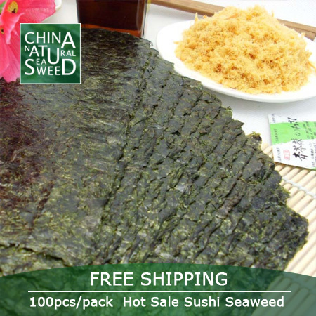 Free Shipping Wholesale high quality seaweed nori for sushi seaweed 100pcs 2017 nori sushi seaweed Dried