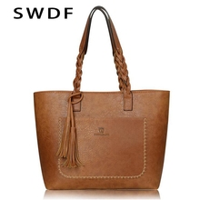 SWDF NEW Women Luxury Leather Bags Oil Handbag Bolsa Feminina Designer
