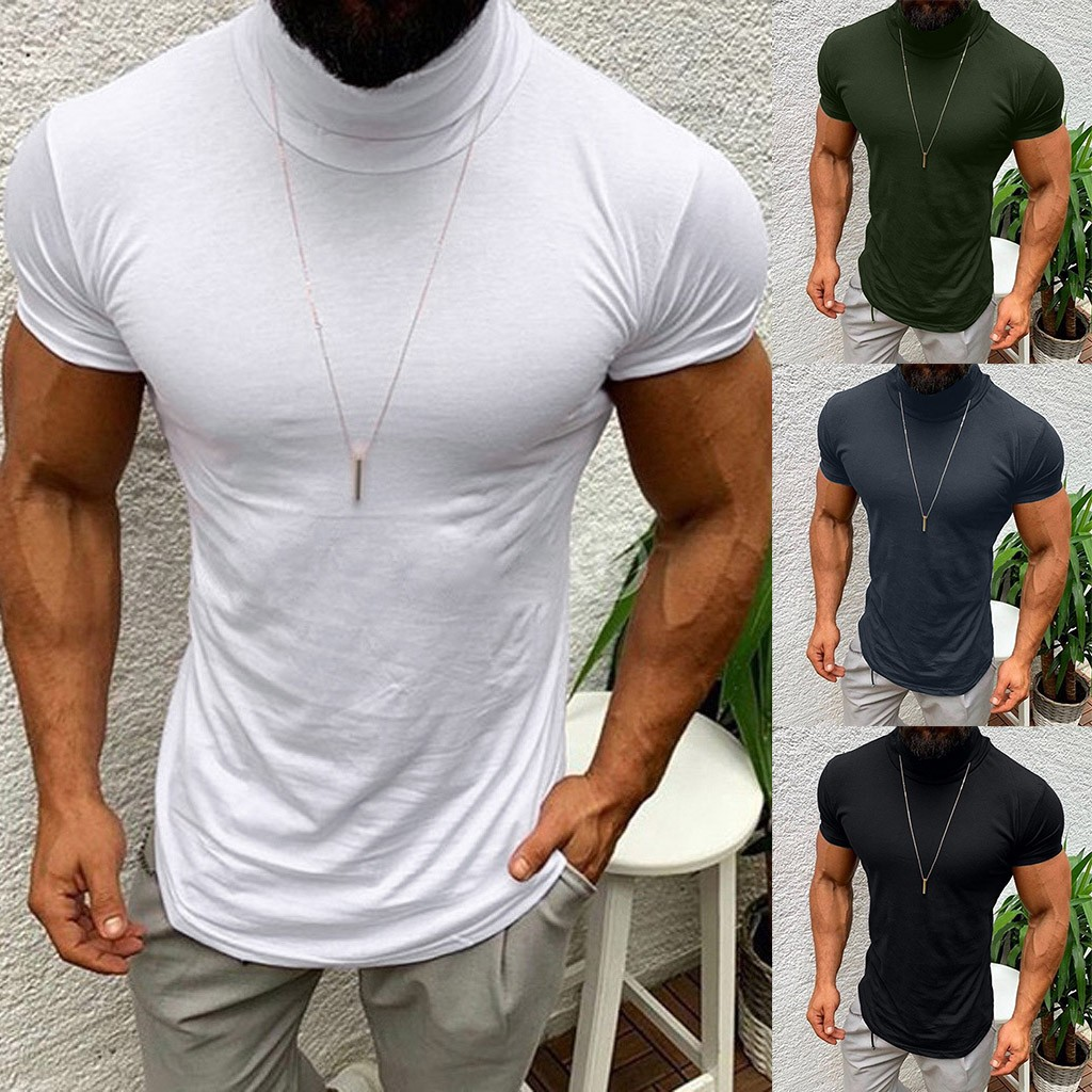 2019 New Summer Solid Men's T-shirt Fashion V Neck Short Sleeve T Shirt Men Clothing Trend Casual Slim Fit Top Tees arrival