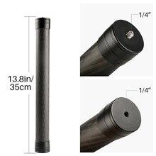 Professional Carbon Fiber Extension Pole Stick 1/4'' Thread Stabilizer Rod Monopod for DJI Ronin S Moza Air 2 Zhiyun Crane 2