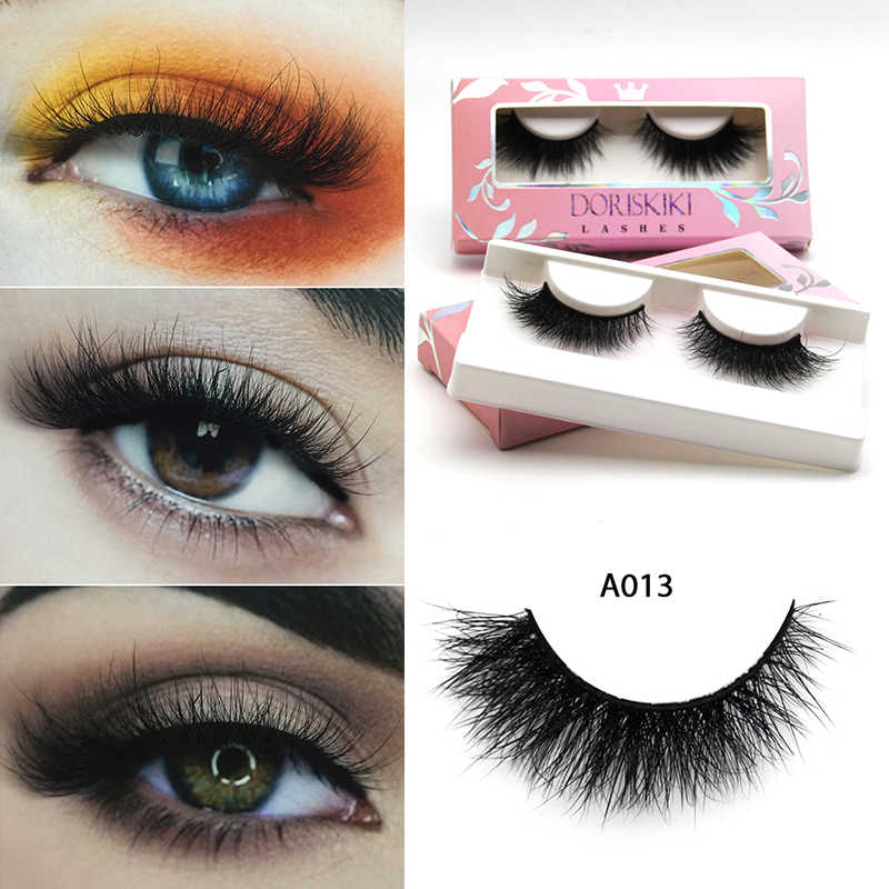68254355e93 A013 3D Mink eyelashes Medium Winged lashes Fake Lashes Cat eyes looks  lashes Doriskiki lashes
