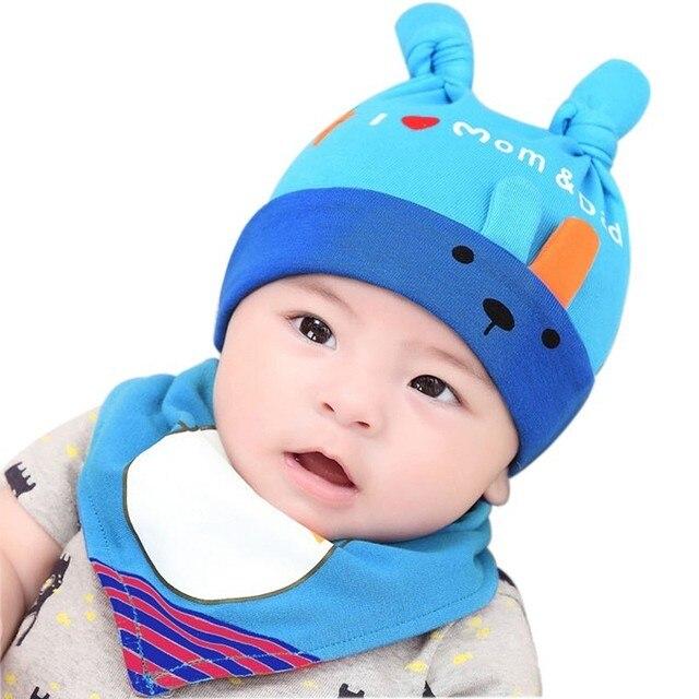 0b4089ee742 Baby Travel Hat Bib 2pcs Set Kids Girls Boys Hat Scarf Set Baby Sleeping  Accessories Infantil Menina Kids Cap Clothes Assy