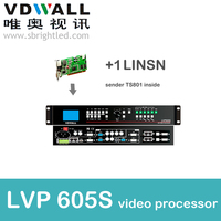 Freeshipping VDWALL LVP605 TS802 Led Processor With 1pc Linsn Sending Card Inside Scaler Switcher Converter