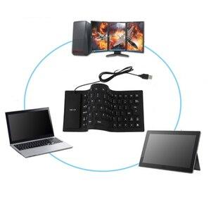 Image 5 - Flexible Wasserdicht Silikon Mini Gaming Tastatur Tragbare USB Tastatur für Tablet Computer Laptop PC Neue Heiße