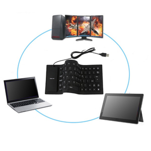 Image 5 - גמיש מים עמיד סיליקון משחקי מיני נייד USB מקלדת עבור מחשב לוח מחשב נייד מחשב חדש חם