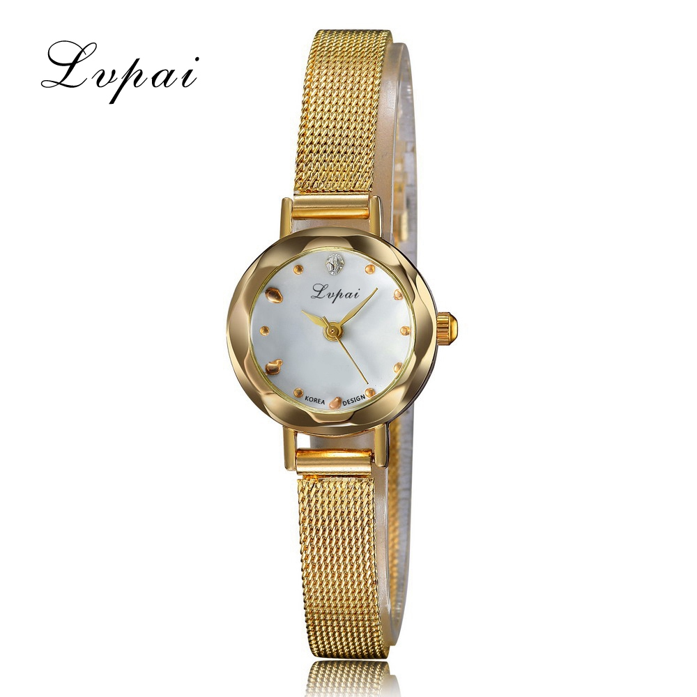 Lvpai Brand Cheap Fashion Luxury Stainless Steel Gold And Silver Band Women Wristwatch Casual Fashion Female Quartz Watches gaiety new watch women stainless steel case leather band casual fashion female gold watches luxury brand quartz g146