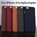 30 unids/lote inglaterra cuadrícula telas hard case para el iphone 6 6 plus 6 s 6 s plus moda patrón de rejilla de tela teléfono móvil de la contraportada case