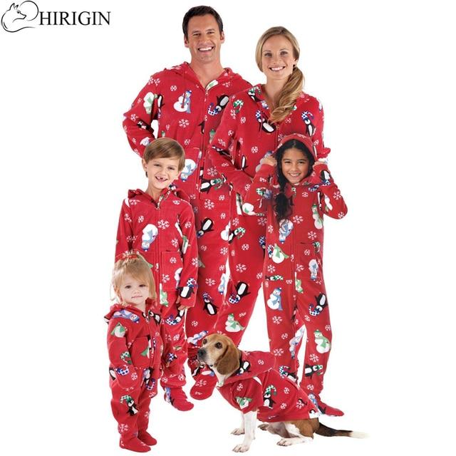 Hirigin Family Matching Christmas Pajamas Set Women Kids Father Son Onesies Cotton Sleepwear Nightwear Family Clothing