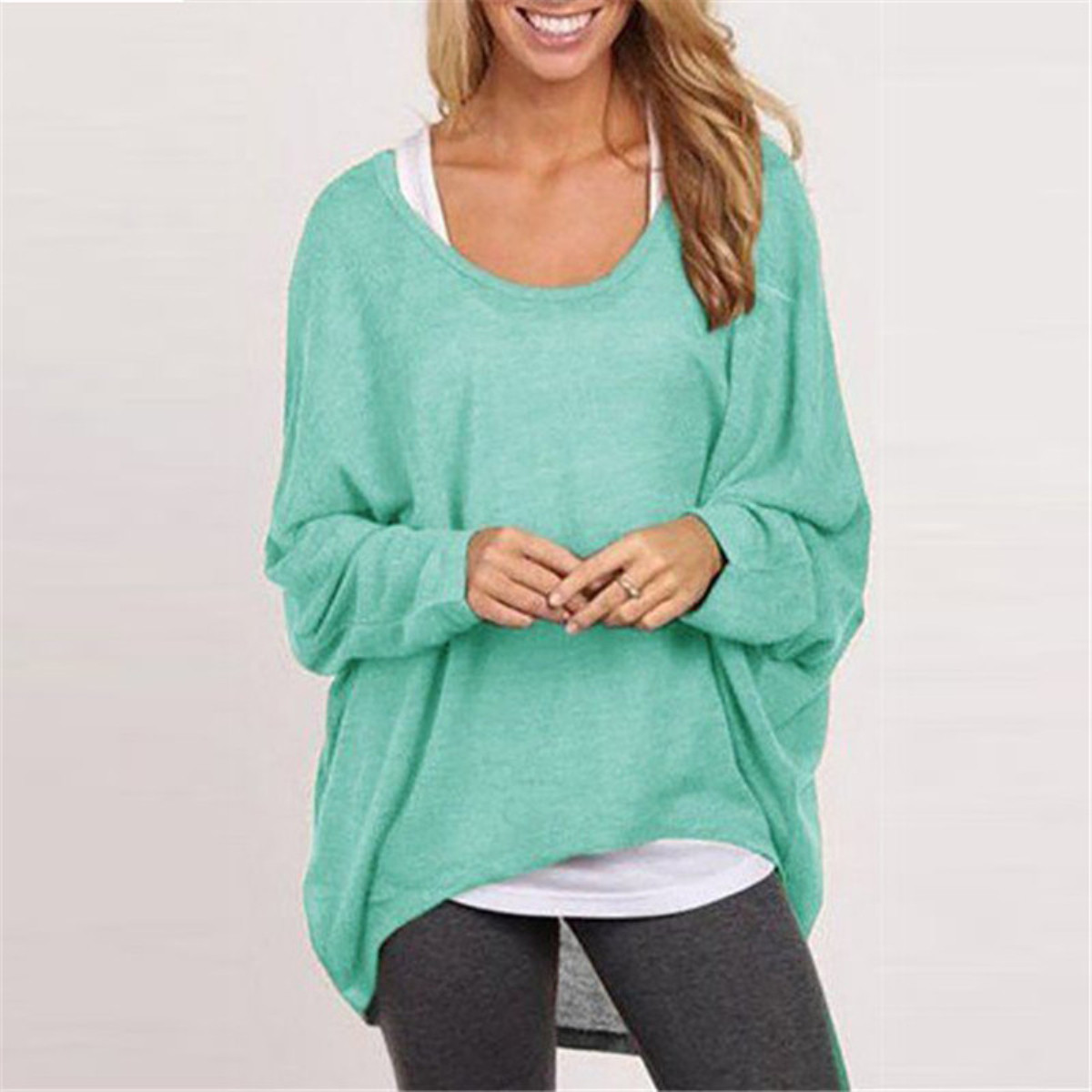 9 Colors 3XL ZANZEA Women Autumn Winter Long Sleeve Tops Shirts 2017 Pullover Sexy Blouses Casual Loose Knitted Outwear Blusas