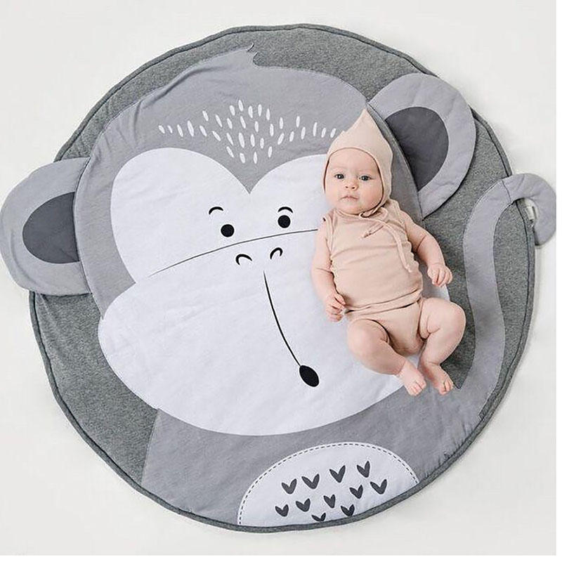 90cm New mat monkey print baby crawling mat baby game mat children's room decoration carpet for baby gifts