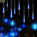 100-240V/EU 50CM Meteor Shower Rain Tubes LED Christmas Decoration For Home Wedding String Lights Adornos Navidad Blue R20