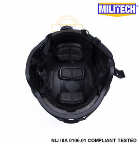 Image 5 - Militech preto bk mich nij nível iiia 3a tactical twaron capacete à prova de balas ach arco occ dial forro aramida capacete balístico selo