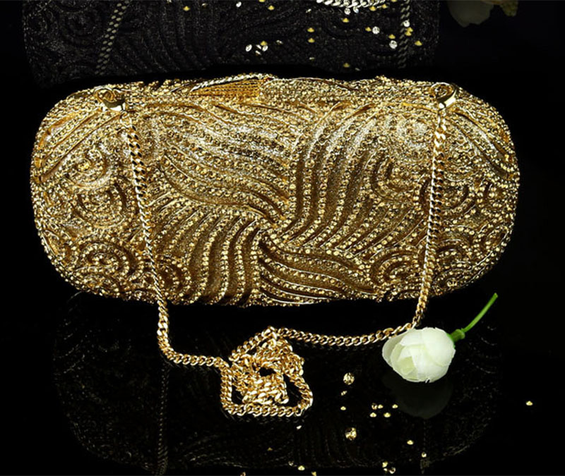 XIYUAN BRAND evening clutch bag women handbag beaded Lady Party Purse Wedding bride Diamond pearl Prom dinner bag banquet bags day clutches elegant lady messenger bags for women clutch evening bag casual party purse beaded wedding handbag zh b0321