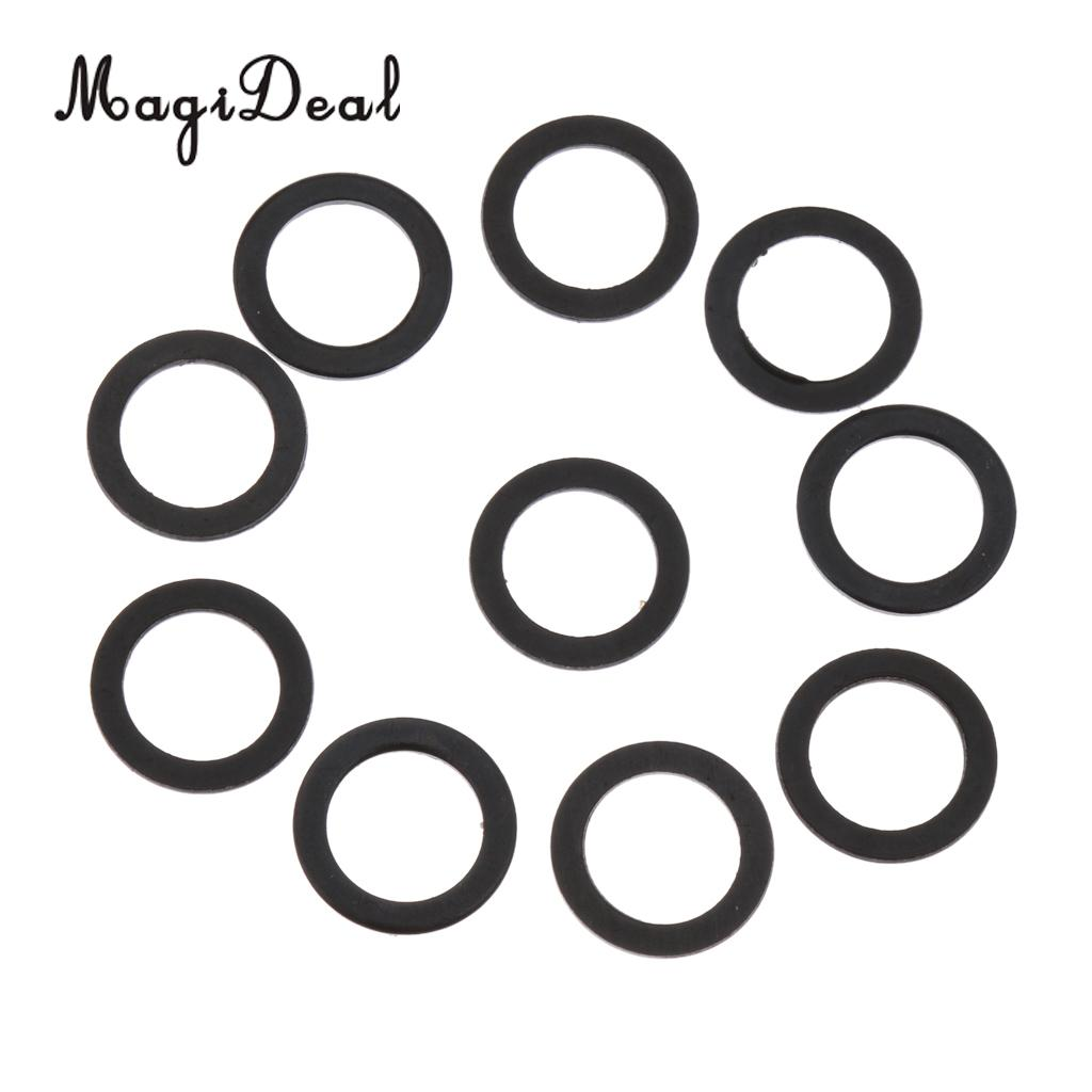 MagiDeal 10pcs Longboard Speed Washers Skateboard Bearing Speed Ring Hardware 10mm Bodyboard Skate Board & Accessories