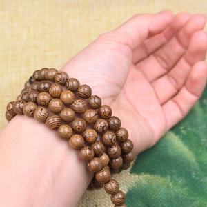 Image 5 - Buddhist 108 Beads Bracelet Meditation Rosary Bracelet Wooden Unique Prayer Beaded Women Men Lucky Bangles Bracciali
