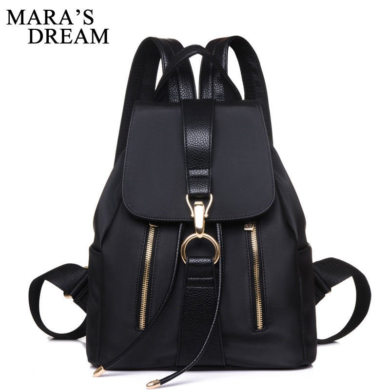 Mara's Dream Fashion Women Backpack Shoulder Bag School Bags For Teenager Girls Casual Solid Backpack School Mochila Rucksack