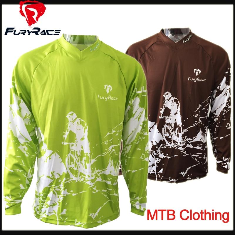 Prix pour Plus Couleurs Fureur de Course Hommes Moto Motocross Racing DH Descente Jersey MX VTT Montagne Vélo t-shirt Vélo Maillots vêtements