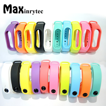 For Xiaomi Mi Band 2 Bracelet Straps Miband 2 Colorful Strap Wristband Replacement Smart Band Accessories For Mi Band 2 Silicone