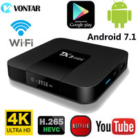 Android 7 1 TV BOX 2GB16GB Amlogic S905W Quad Core Support H 265 4K 30tps 2