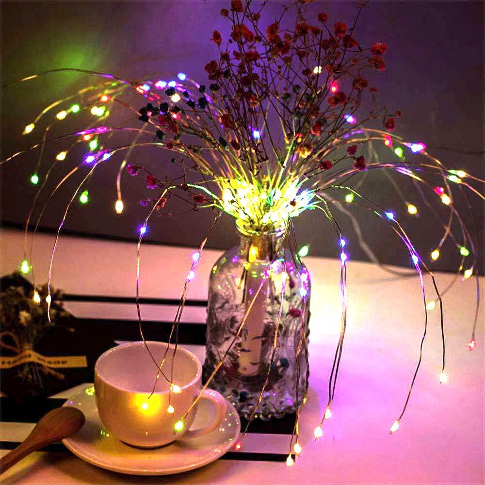 Сказочная гирлянда, декоративный свет, пульт дистанционного управления, Сказочная гирлянда, световая гирлянда, форма букета, фестиваль, супер яркий Сказочный свет, фейерверк