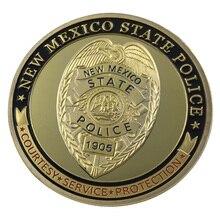 Нью-Мексико полиция штата/NMSP позолоченный вызов монета/медаль 1285