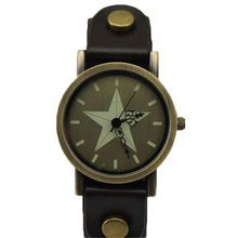 5 Stars face designer high quality Genuine leather strap men and women's wristwatches fashion watches relojs