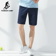 Пионерский Лагерь Новое лето шорты мужчины марка одежды твердые бермудские шорты мужской высокое качество стрейч slim fit бордшорты 655117