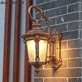 Europäischen Wasserdichte Wand Lampen Druckguss Aluminium Glas Outdoor-LED-Licht Wand Leuchte Garten Balkon Gang Veranda Beleuchtung