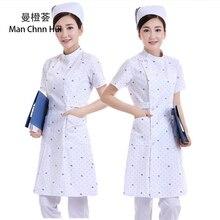 682925c414cf4 Medical robes dental work clothes nurse uniform white pink blue  short-sleeved summer (China
