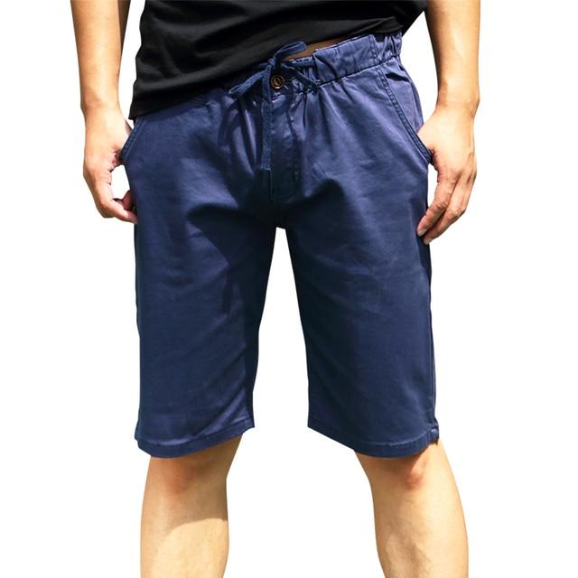 2016 Hot Sale Cotton All Match Men's Casual Short Pants Navy Good Quality Men's Summer Hot Pants Summer Casual Shorts For Men
