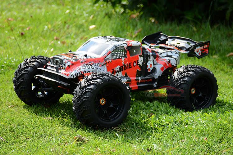 DHK zombies1: 8 กันน้ำ 4WD ความแรงกว่า vkar bison High speed อิเล็กทรอนิกส์รีโมทคอนโทรลรถบรรทุกมอนสเตอร์, rc racing cars
