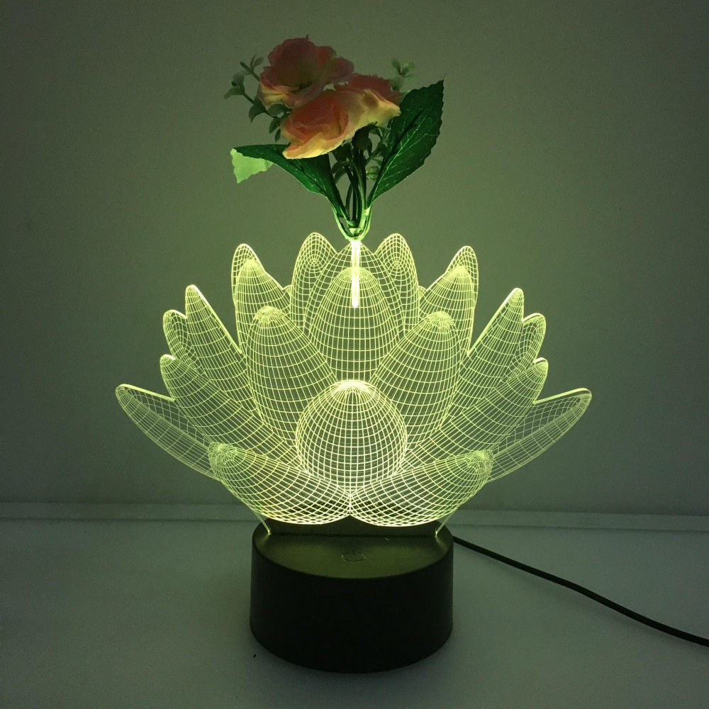 Lovely naughty 3d colorful lotus flower led table lamp with usb lovely naughty 3d colorful lotus flower led table lamp with usb cable nightlights kid bedroom home decor bedside lampara for ru in night lights from lights izmirmasajfo