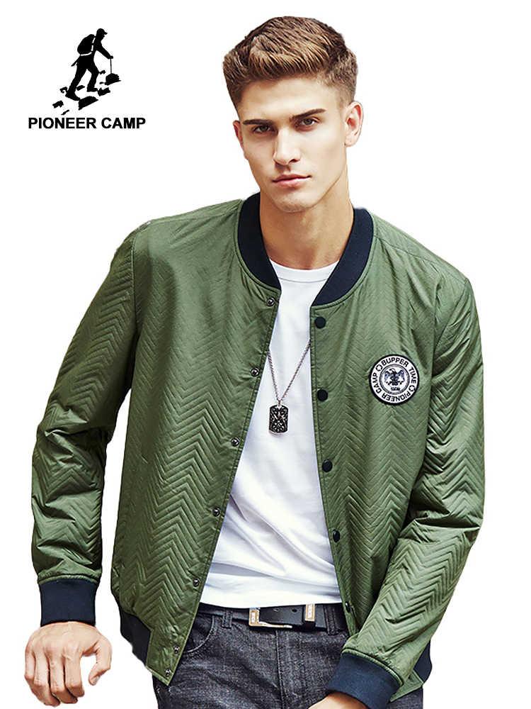 f55fce5928c Пионерский лагерь 2018 новая мужская куртка армейский зеленый камуфляж  военный стиль пальто Высокое качество Весна Мужская