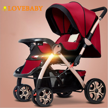 IIILOVEBABY Baby Stroller 3 in 1 Lightweight Folding Light Carrying Belt Suit Lying Seat Hot Mom Four Wheels Stroller Baby Car цена 2017