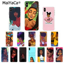 MaiYaCa Colorful art african girl Transparent Soft Shell Phone Case for Apple iPhone 7 6 6S Plus X XS MAX 5 5S SE XR 8 Cover maiyaca colorful art african girl transparent soft shell phone case for apple iphone 7 6 6s plus x xs max 5 5s se xr 8 cover