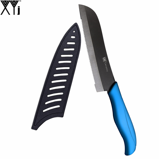 Best Kitchen Knife 5 Inch Serrated Bread Knife With Black Cover As Free  Gift XYJ Brand Eco Friendly Santoku Knife Kitchen Tool-in Kitchen Knives  from ...