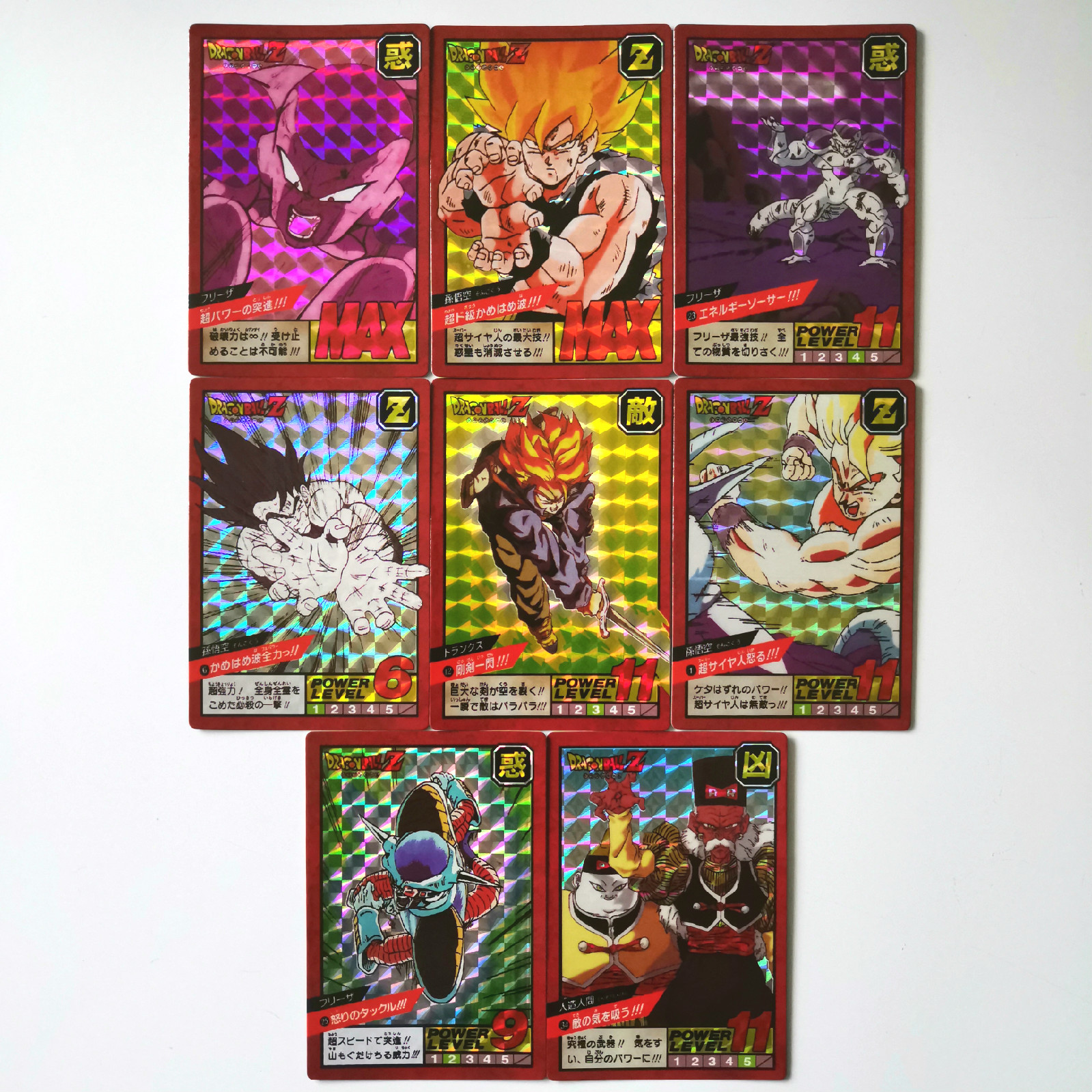 8pcs/set Super Dragon Ball Z Fighting 1 Reissue Heroes Battle Card Ultra Instinct Goku Vegeta Game Collection Cards