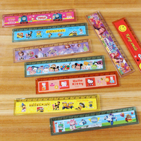 3pcs / lot Pupils stationery transparent ruler 15 cm plastic ruler ruler ruler learning tools