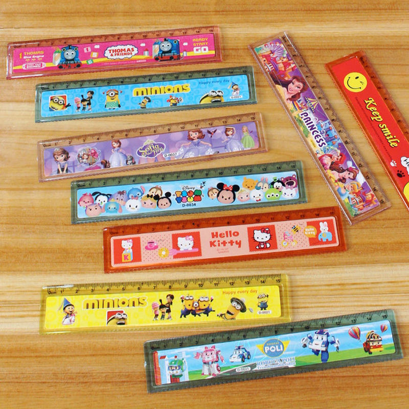 6 Pcs 1 Lot Learn Stationery Variety Of Cartoon 15cm Transparent Plastic Ruler Wave Ruler Curve Ruler Cartoon Stationery Ruler