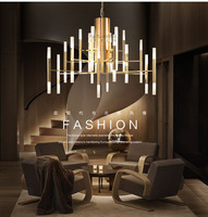 Luxury golden pendant lamp loft pendant light indoor decorative lighting suspension luminaire lustre pendente sala de jantar