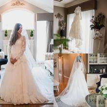 Rosnovias Long Sleeves Wedding Dresses 2019 Backless