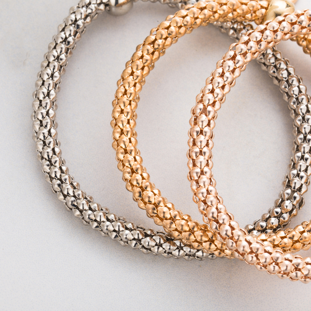 Rhinestones Heart Pendant Love Bracelet