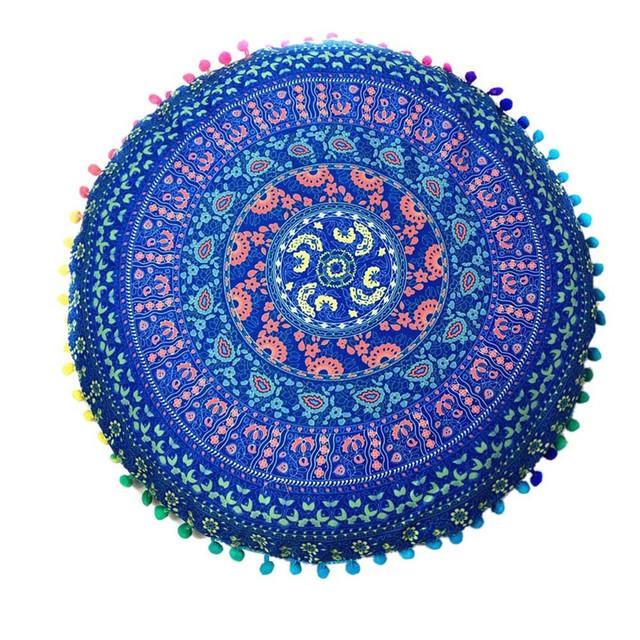 Round Mandala Yoga Cushions